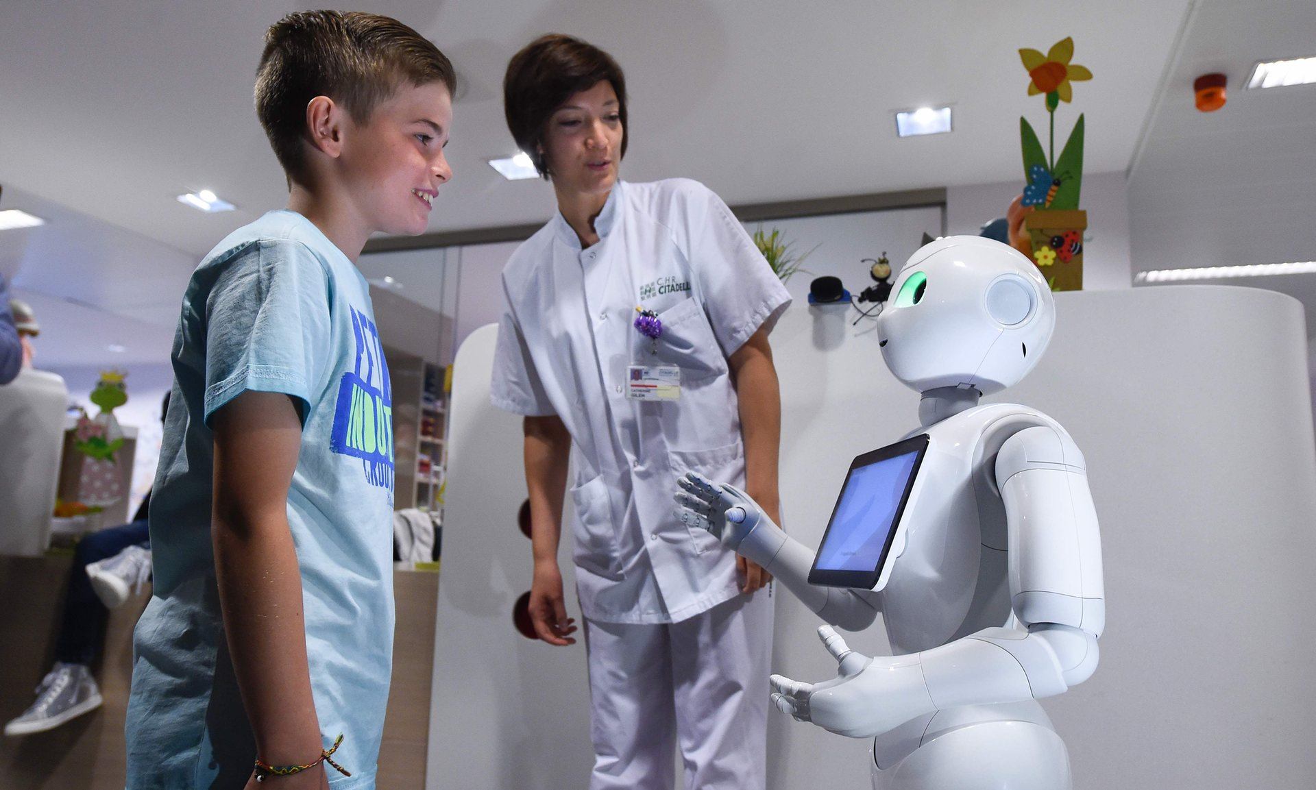 robot receptionists introduced at hospitals in belgium abovewhispers abovewhispers